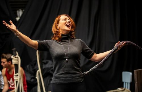 """Rehearsals, """"Queen Rat"""", Lichfield Garrick"""